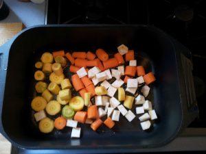 Gemüse anrösten
